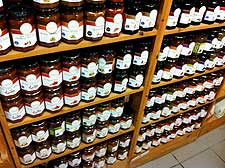 Image of jars filled with homemade jam