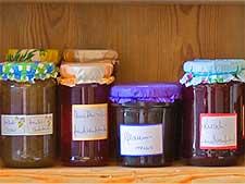 Close-up photo of homemade jam